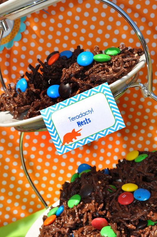dinosaur birthday party food labels