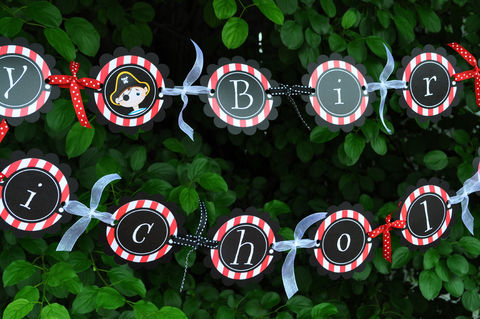 Pirate,Party,Banner,-,Birthday,Boys,Decorations,Kids,pirate birthday, pirate party decorations, pirate banner, pirate birthday party, birthday banner, boys 1st birthday banner, 1st birthday, pirate birthday banner