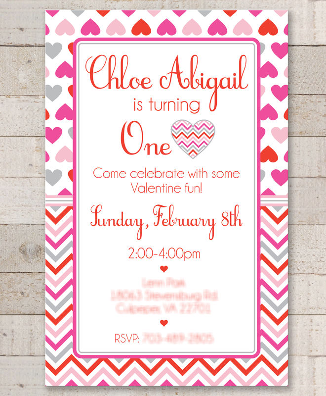 Valentine Birthday Invitations  ValentineS Day Invitations