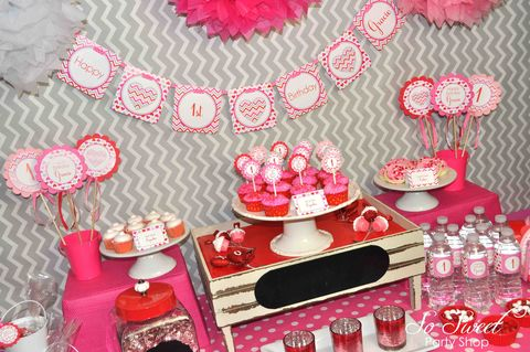 Valentine,Birthday,Banner,Mini,-,Valentine's,Day,February,Heart,Chevron,valentines day party banner, valentine birthday banner, heart party decorations, heart valentine banner, valentines day birthday party, birthday stickers, birthday banner, birthday party, 1st birthday banner