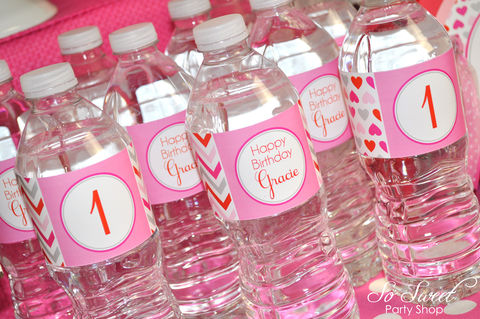 Valentine,Birthday,Water,Bottle,Labels,-,Valentine's,Day,Party,February,Heart,Chevron,Decoration,Set,of,10,valentines day party water bottle labels, valentine birthday water bottle wraps, heart party decorations, heart valentine water bottle labels, valentines day birthday party, birthday decorations, birthday party water bottle labels, birthday party, 1st bir