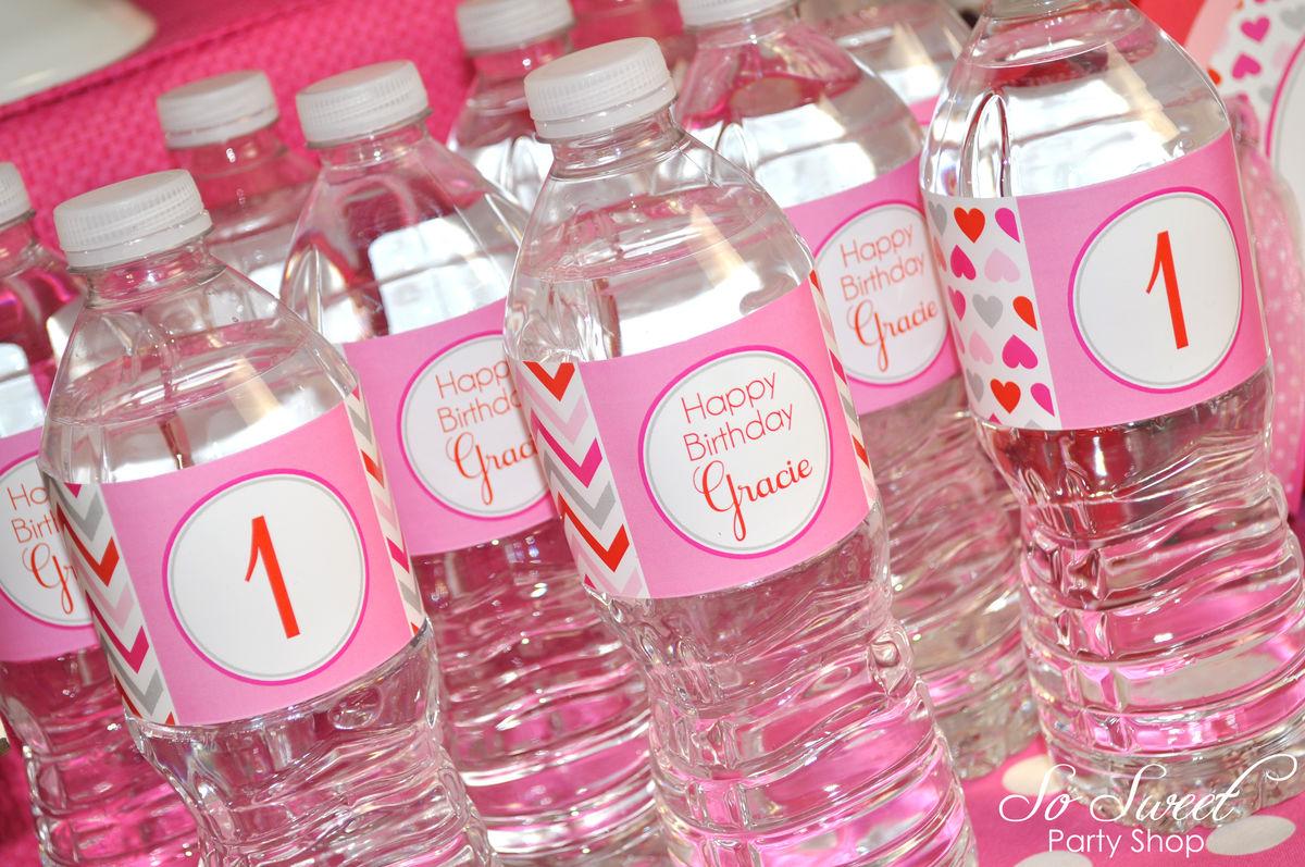 Valentine Birthday Water Bottle Labels - Valentine's Day Birthday ...