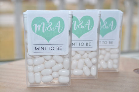 Mint,To,Be,Tic,Tac,Labels,,Bridal,Shower,Favors,,Wedding,Bachelorette,Party,,Personalized,Stickers,,Large,Heart,-,Set,of,24,Labels,Tic Tac Labels Mint To Be, bridal shower favors, wedding favors, mint to be, meant to be, bachelorette party favors, personalized favors, mint party favors