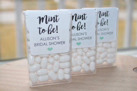 Wedding,Favors,,Tic,Tac,Labels,Mint,To,Be,,Bridal,Shower,Bachelorette,Party,,Personalized,Stickers,,-,Set,of,24,Tic Tac Labels Mint To Be, bridal shower favors, wedding favors, mint to be, meant to be, bachelorette party favors, personalized favors, mint party favors