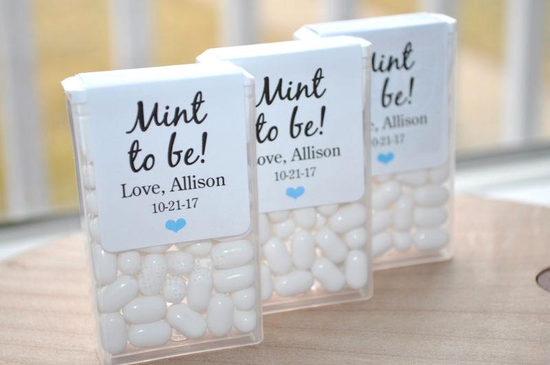 Bridal Shower Favors, Tic Tac Labels Mint To Be, Wedding Favors ...