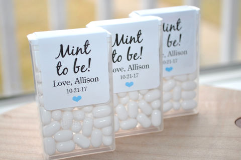 Bridal,Shower,Favors,,Tic,Tac,Labels,Mint,To,Be,,Wedding,Bachelorette,Party,,Personalized,Stickers,,-,Set,of,24,Tic Tac Labels Mint To Be, bridal shower favors, wedding favors, mint to be, meant to be, bachelorette party favors, personalized favors, mint party favors