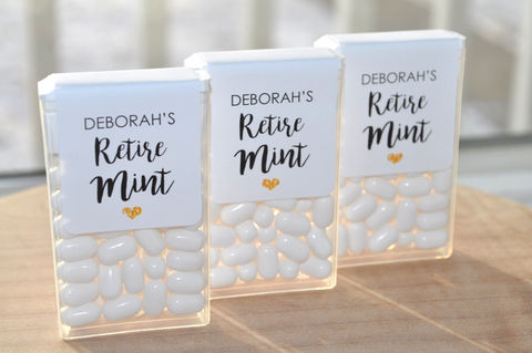 Retirement,Party,Favors,,Tic,Tac,Labels,Mint,Retiremints,,Happy,Retirement,,Personalized,Favors,-,Set,of,24,Retirement Party Favors, Tic Tac Labels Mint Favors, Retiremints, Mint Favors, Happy Retirement, Personalized Party Favors, Tic Tac Labels Mint To Be, bridal shower favors, wedding favors, mint to be, meant to be, bachelorette party favors, personalized f