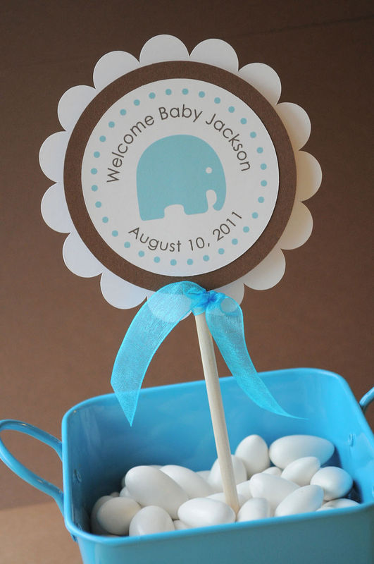 24 boys baby shower favor sticker labels it 39 s a boy elephant theme