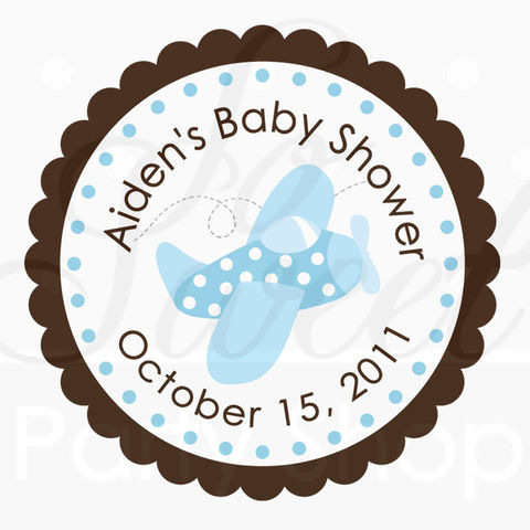 24,Birthday,Favor,Sticker,Labels,-,Baby,Boy,Light,Blue,Airplane,Personalized,favor sticker labels, party favors birthday stickers, party favor bag stickers, containers labels, envelope seals, party decor labels