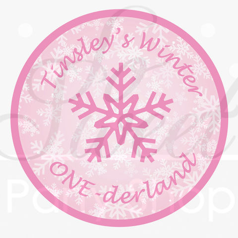 24,Birthday,Favor,Sticker,Labels,-,Girls,1st,Snowflake,,Winter,One-derland,favor sticker labels, party favors birthday stickers, party favor bag stickers, containers labels, envelope seals, party decor labels