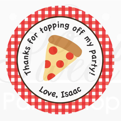 24,Birthday,Favor,Sticker,Labels,-,Pizza,Party,favor sticker labels, party favors birthday stickers, party favor bag stickers, containers labels, envelope seals, party decor labels