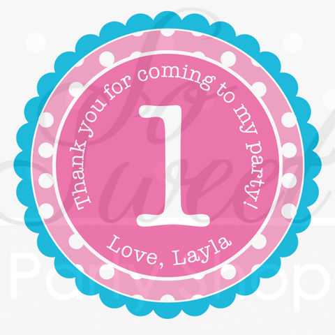 24,Birthday,Stickers,-,1st,Banner,Polkadots,Pink,,Teal,,Lime,Green,,Purple,Girls,Party,Decorations,favor sticker labels, party favors birthday stickers, party favor bag stickers, containers labels, envelope seals, party decor labels
