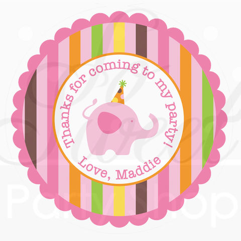 24,Birthday,Stickers,,Party,Favor,Tags,-,Elephant,and,Giraffe,Stripes,Decorations,favor sticker labels, party favors birthday stickers, party favor bag stickers, containers labels, envelope seals, party decor labels