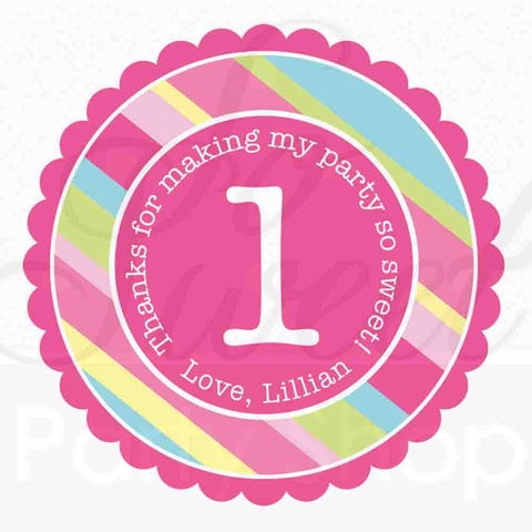 24,Girl's,Birthday,Party,Favor,Sticker,Labels,-,Personalized,Girls,Decorations,favor sticker labels, party favors birthday stickers, party favor bag stickers, containers labels, envelope seals, party decor labels