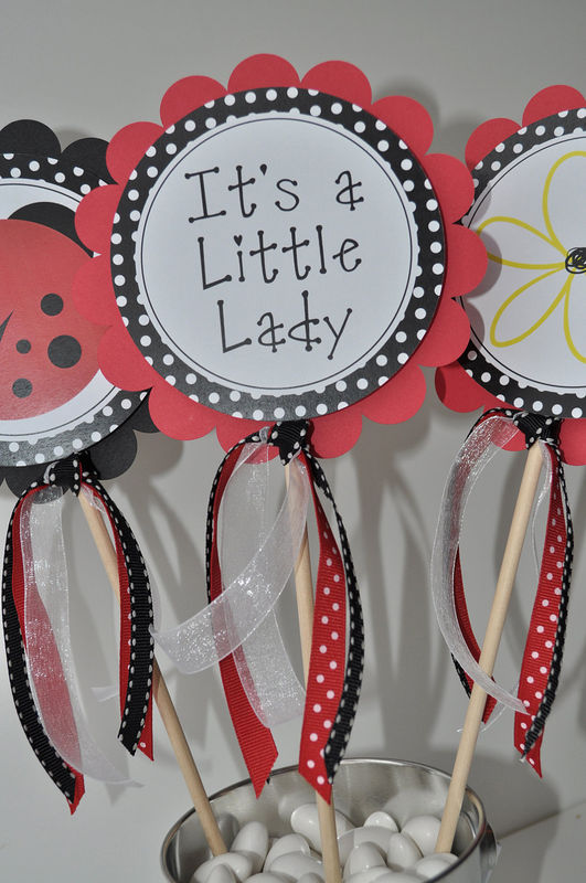 favor stickers ladybug baby shower or birthday party decorations