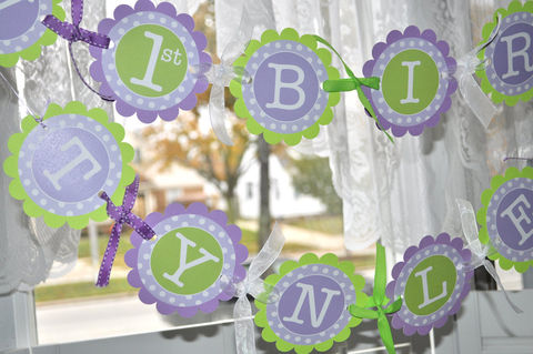 1st,Birthday,Banner,-,Polkadots,Lavender,Purple,and,Lime,Green,Girls,Party,Decorations,birthday banners, decoration, baby shower banner, 1st birthday banner, happy birthday banner, party sign, personalized party, girls birthday party, birthday banner, party decorations, girls birthday ideas, party banner