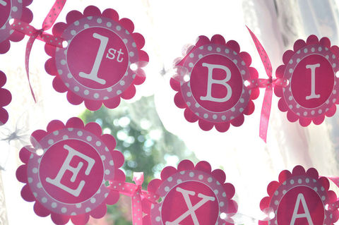 1st,Birthday,Banner,-,Polkadots,Pink,and,White,Personalized,with,Name,Girl's,Party,Decorations,birthday banners, decoration, baby shower banner, 1st birthday banner, happy birthday banner, party sign, personalized party, girls birthday party, birthday banner, party decorations, girls birthday ideas, party banner
