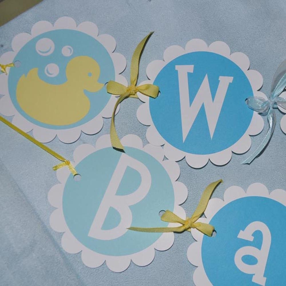 Baby Shower Banner - Boy or Girl - Rubber Ducky Theme ...
