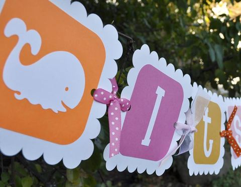 Baby,Shower,Banner,-,Whale,theme,It's,a,Girl,birthday banners, decoration, baby shower banner, 1st birthday banner, happy birthday banner, party sign, personalized party, girls birthday party, birthday banner, party decorations, girls birthday ideas, party banner