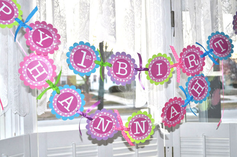 1st Birthday Banner With Photo Birthday Banner 1st Birthday