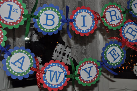 Birthday,Banner,-,Primary,Colors,Polkadots,Personalized,birthday banners, decoration, baby shower banner, 1st birthday banner, happy birthday banner, party sign, personalized party, girls birthday party, birthday banner, party decorations, girls birthday ideas, party banner