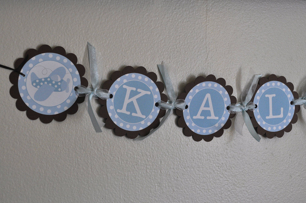 Boy baby shower banner personalized with name for Baby name decoration