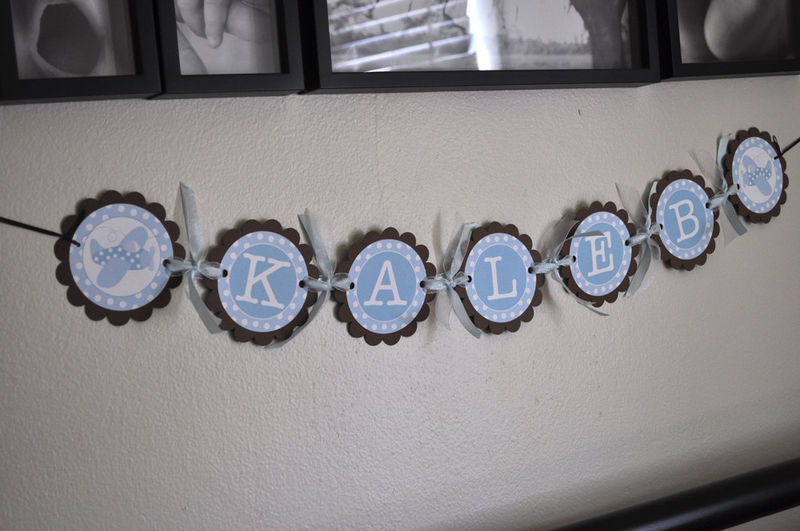 Boy Baby Shower Banner - Personalized With Name - Airplanes and ...