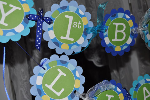 Boys,1st,Birthday,Banner,-,Blue,Polkadots,Personalized,Party,Decorations,birthday banners, decoration, baby shower banner, 1st birthday banner, happy birthday banner, party sign, personalized party, girls birthday party, birthday banner, party decorations, girls birthday ideas, party banner