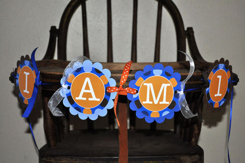 Boys,1st,Birthday,Highchair,Banner,-,Blue,,Orange,and,Brown,Polkadots,Personalized,Party,Decorations,birthday banners, decoration, baby shower banner, 1st birthday banner, happy birthday banner, party sign, personalized party, girls birthday party, birthday banner, party decorations, girls birthday ideas, party banner