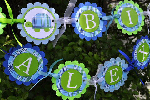 Boys,Birthday,Banner,-,Turtle,Preppy,Plaid,Blue,,Green,Personalized,Party,Decorations,birthday banners, decoration, baby shower banner, 1st birthday banner, happy birthday banner, party sign, personalized party, girls birthday party, birthday banner, party decorations, girls birthday ideas, party banner