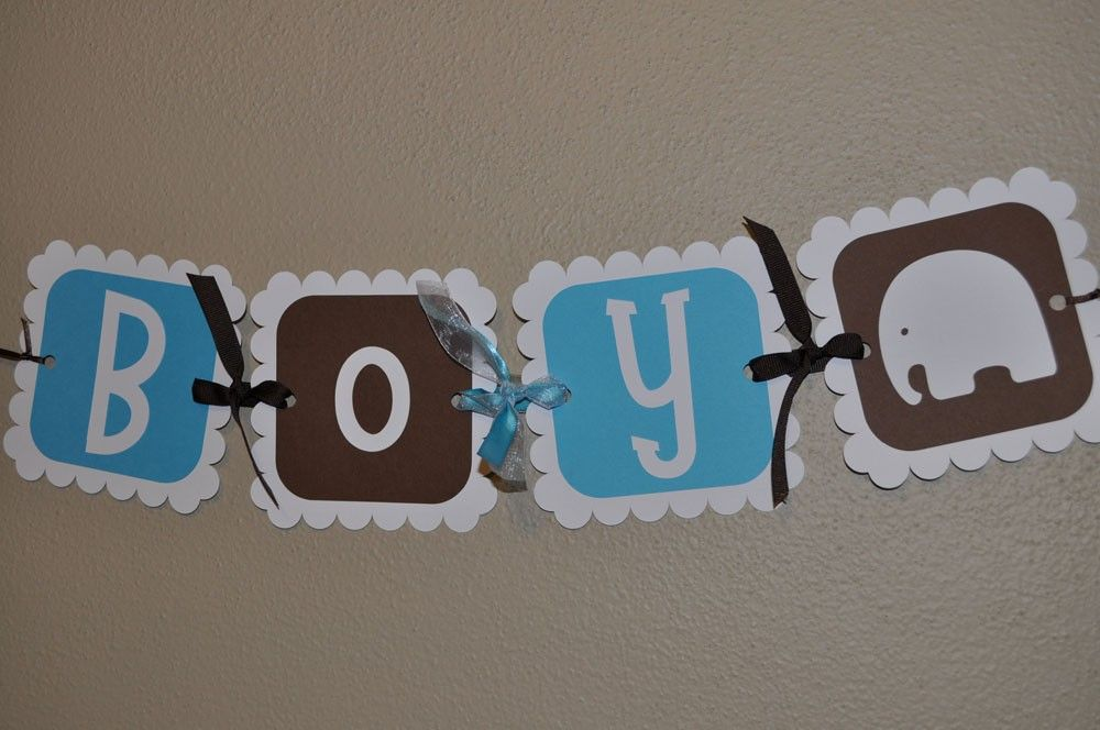 elephant baby shower banner it 39 s a boy so sweet party shop