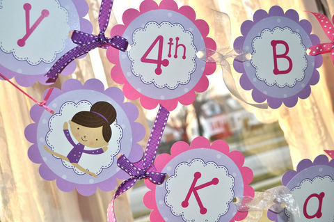 Gymnastics,Birthday,Banner,-,Girls,Decorations,Gymnastics,,Tumbling,Theme,Party,birthday banners, decoration, baby shower banner, 1st birthday banner, happy birthday banner, party sign, personalized party, girls birthday party, birthday banner, party decorations, girls birthday ideas, party banner
