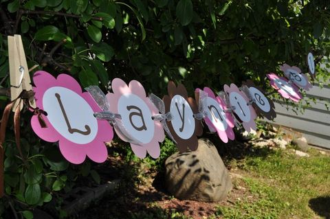 Girls,Birthday,Banner,-,Pink,and,Brown,Flowers,Girl's,Party,Decorations,birthday banners, decoration, baby shower banner, 1st birthday banner, happy birthday banner, party sign, personalized party, girls birthday party, birthday banner, party decorations, girls birthday ideas, party banner