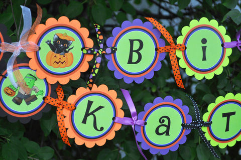 Halloween,Happy,Birthday,Banner,-,or,Party,Decorations,birthday banners, decoration, baby shower banner, 1st birthday banner, happy birthday banner, party sign, personalized party, girls birthday party, birthday banner, party decorations, girls birthday ideas, party banner