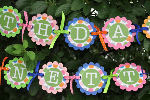Happy,Birthday,Banner,-,Colorful,Polkadots,Blue,,Pink,,Orange,and,Green,Party,Decorations,birthday banners, decoration, baby shower banner, 1st birthday banner, happy birthday banner, party sign, personalized party, girls birthday party, birthday banner, party decorations, girls birthday ideas, party banner