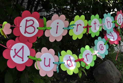 Happy,Birthday,Banner,-,Flowers,and,Butterflies,Personalized,birthday banners, decoration, baby shower banner, 1st birthday banner, happy birthday banner, party sign, personalized party, girls birthday party, birthday banner, party decorations, girls birthday ideas, party banner