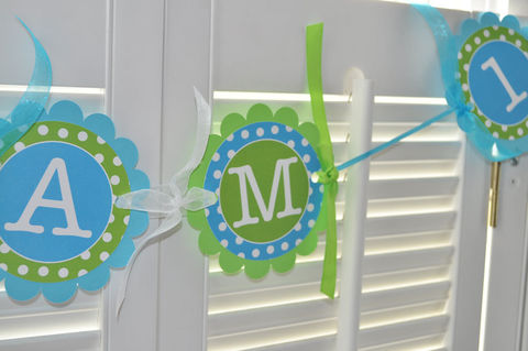 Highchair,Banner,-,1st,Birthday,Polkadots,Teal,and,Lime,Green,birthday banners, decoration, baby shower banner, 1st birthday banner, happy birthday banner, party sign, personalized party, girls birthday party, birthday banner, party decorations, girls birthday ideas, party banner