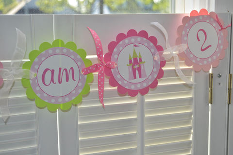 Highchair,Banner,Princess,-,Polkadots,Pink,and,Lime,Green,birthday banners, decoration, baby shower banner, 1st birthday banner, happy birthday banner, party sign, personalized party, girls birthday party, birthday banner, party decorations, girls birthday ideas, party banner