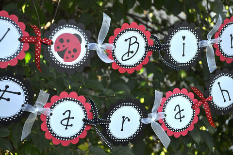 Ladybug,Banner,-,Baby,Shower,or,Birthday,Personalized,Party,Decorations,birthday banners, decoration, baby shower banner, 1st birthday banner, happy birthday banner, party sign, personalized party, girls birthday party, birthday banner, party decorations, girls birthday ideas, party banner