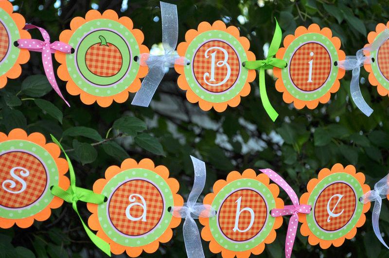 pumpkin 1st birthday highchair banner i am one halloween birthday party decorations little - Baby Halloween Birthday Party