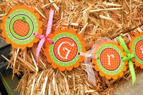 Pumpkin,Birthday,Banner,,Baby,Shower,Banner,-,Halloween,,Autumn,or,Decorations,birthday banners, decoration, baby shower banner, 1st birthday banner, happy birthday banner, party sign, personalized party, girls birthday party, birthday banner, party decorations, girls birthday ideas, party banner