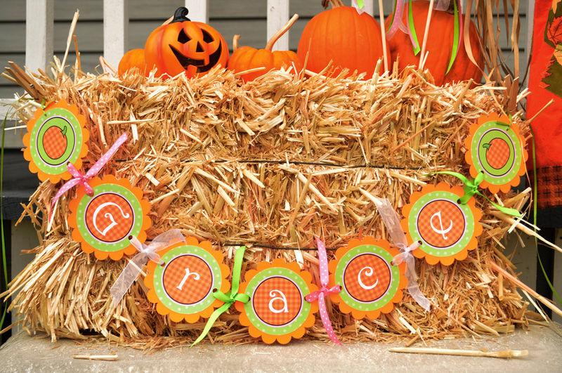Pumpkin Birthday Banner, Baby Shower Banner - Halloween, Autumn ...