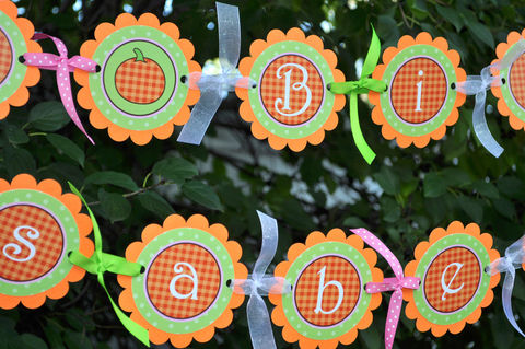Pumpkin,Happy,Birthday,Banner,-,Halloween,,Autumn,Party,Decorations,birthday banners, decoration, baby shower banner, 1st birthday banner, happy birthday banner, party sign, personalized party, girls birthday party, birthday banner, party decorations, girls birthday ideas, party banner