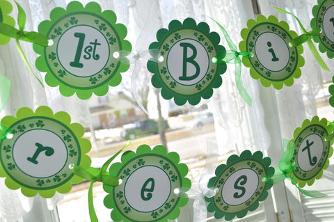 St.,Patrick's,Day,Birthday,Banner,-,Decorations,Shamrocks,,Clovers,,Green,birthday banners, decoration, baby shower banner, 1st birthday banner, happy birthday banner, party sign, personalized party, girls birthday party, birthday banner, party decorations, girls birthday ideas, party banner