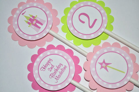 Princess,Cupcake,Toppers,Birthday,-,Girls,Decorations,Set,of,12,princess birthday decorations, princess cupcake toppers, cupcake toppers, party decorations, cake decorations, 1st birthday cupcake toppers, personalized cupcake toppers