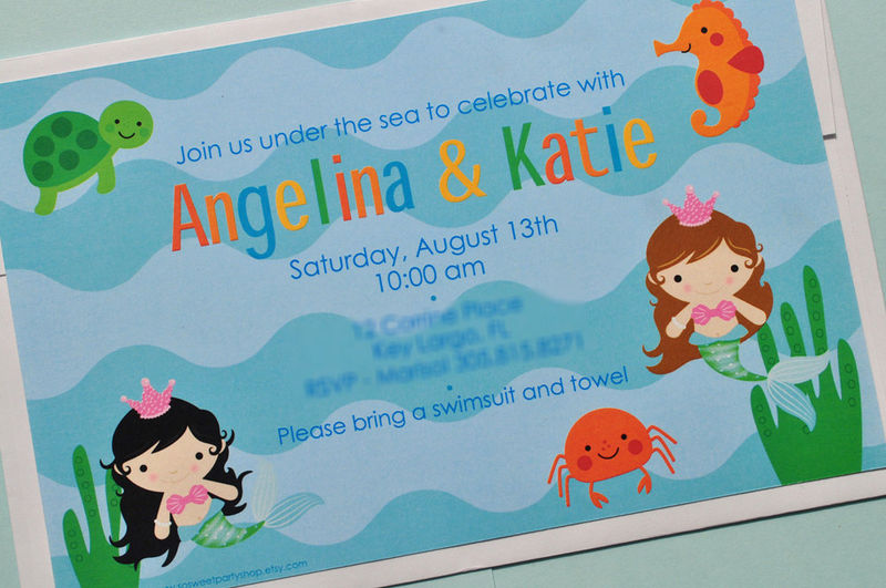 Baby Shower Mermaid Invitations is good invitations template