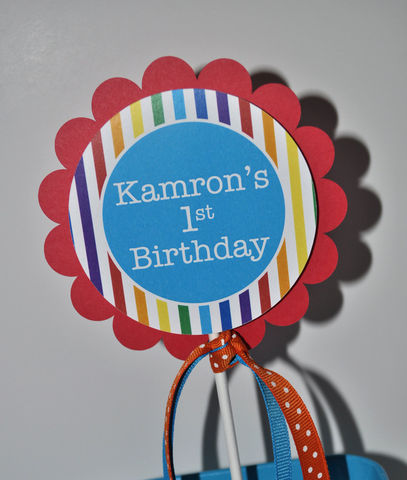 Birthday,Cake,Topper,Rainbow,Colors,-,Personalized,1st birthday cake topper, happy birthday cake topper, cake topper, smash cake topper, baby shower cake topper