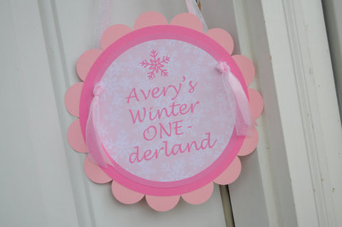 Birthday,Party,Door,Sign,-,1st,Snowflake,,Winter,One-derland,1st birthday, personalized, happy birthday, party decorations, door sign, party sign, welcome sign