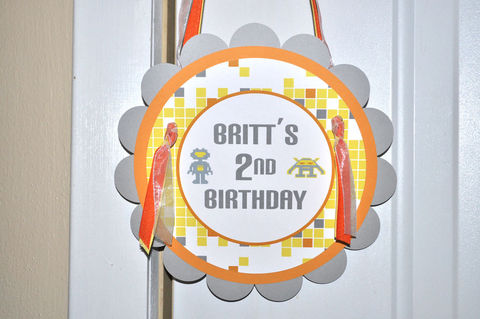 Boys,Birthday,Party,Sign,-,Robot,,Space,Invaders,,Aliens,Personalized,Decorations,1st birthday, personalized, happy birthday, party decorations, door sign, party sign, welcome sign