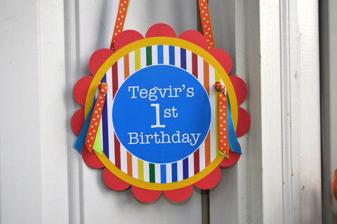 Happy,Birthday,Door,Sign,-,Rainbow,Colors,Personalized,1st birthday, personalized, happy birthday, party decorations, door sign, party sign, welcome sign